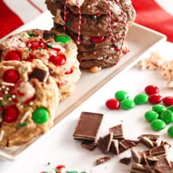 Elf Cookies on a plate with candy pieces