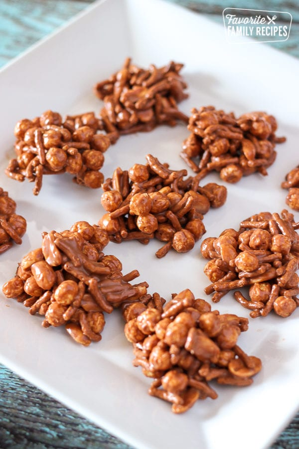 9 Fiber Crunchies on a white plate.