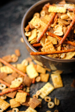 Game Night Chex Mix in a Bowl