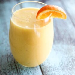 Orange Pineapple Banana Smoothie in a glass