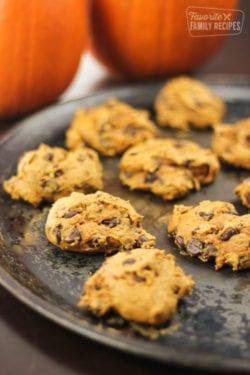 Pumpkin Chocolate Chip Cookies – Only 3 Ingredients!