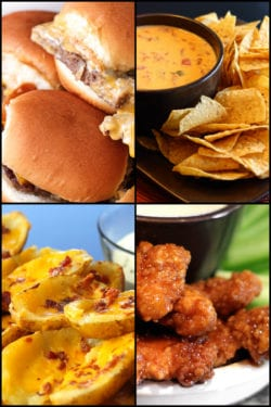 Super Bowl Party Recipes Collage