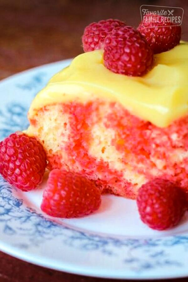 Raspberry Lemon Jello Poke Cake Favorite Family Recipes