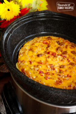 Crockpot Breakfast Casserole in a Crock Pot