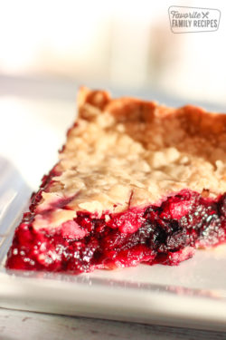Slice of Easy Berry Pie on a Plate