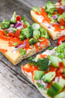 Easy Low Fat Veggie Squares