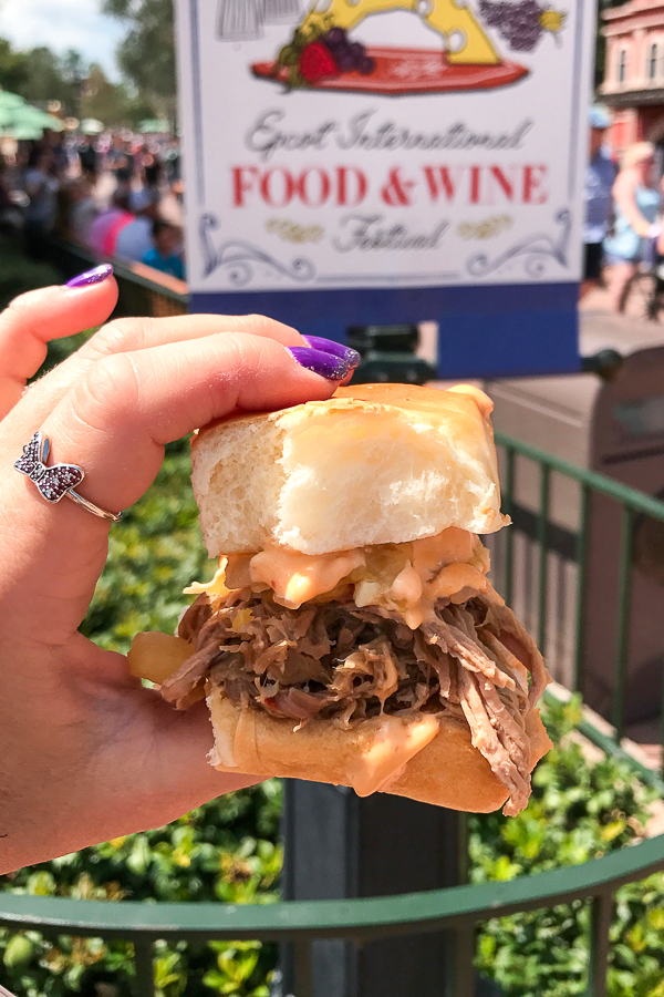 Kaulua Pork Slider from the Hawaii Global Marketplace at the Epcot Food and Wine Festival