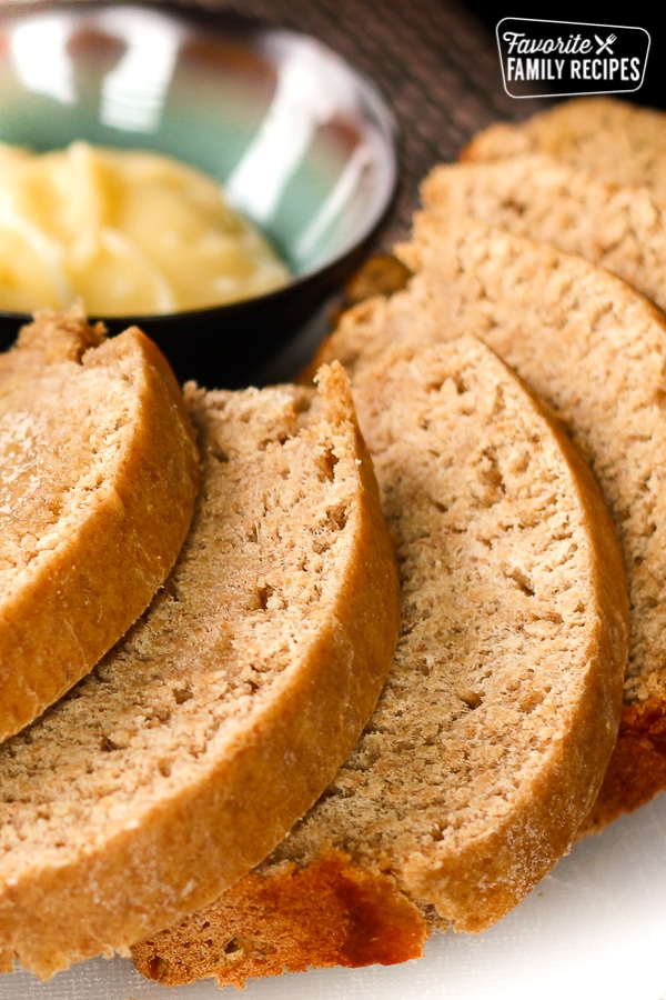 slices of honey wheat homemade bread