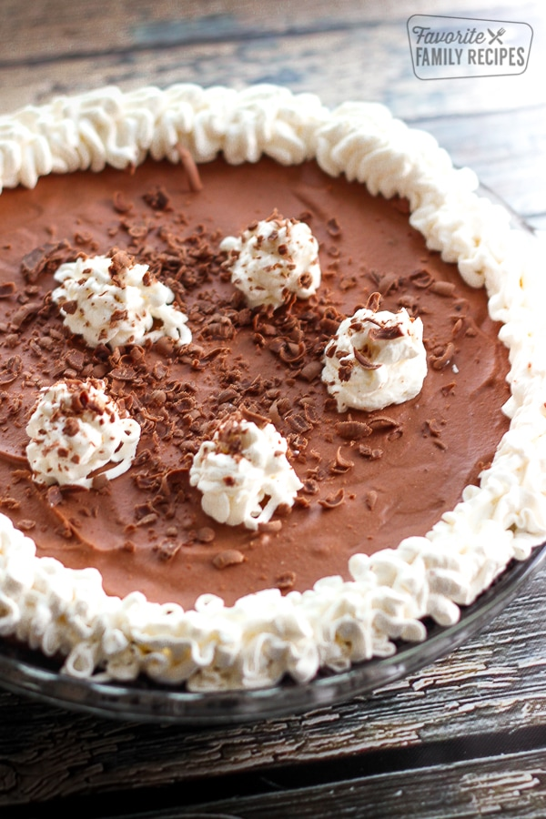 Marie Callender's Chocolate Satin Pie in a Pie Dish