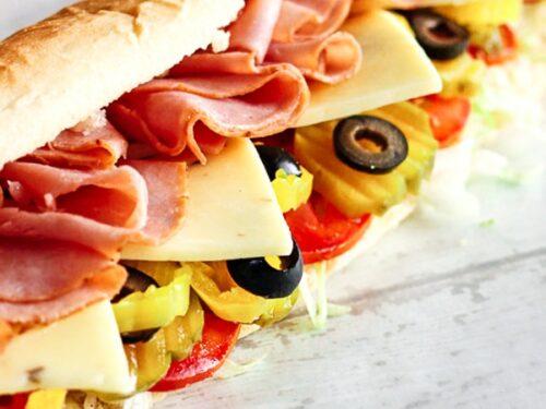 Homemade sandwich Subway bread