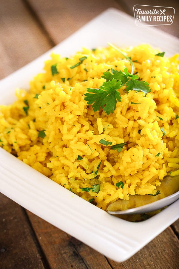 Super Easy Yellow Rice Recipe Favorite Family Recipes