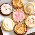 A Variety of Swig Sugar Cookies on a Plate