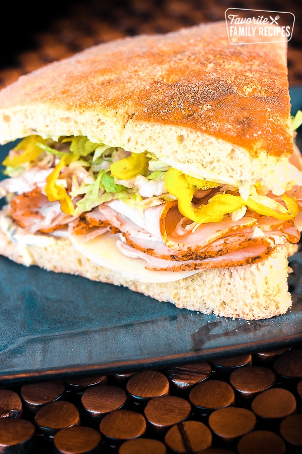 Turkey Over Italy Sandwich On Foccacia Bread Favorite Family Recipes