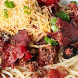 Cowboy Spaghetti in a large bowl