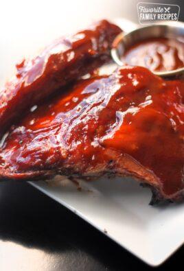 Close up of Kansas City Baby Back Pork Ribs