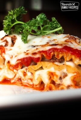Lasagna Roll Ups on a plate