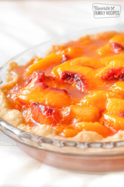 Peach Pie in a Homemade Pie Crust