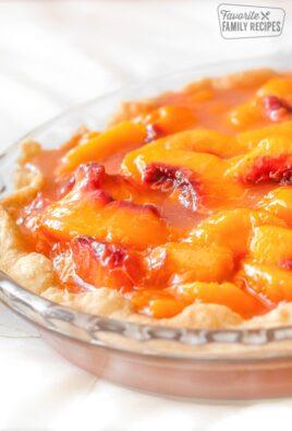 Peach Pie in a Homemade Pie Crust