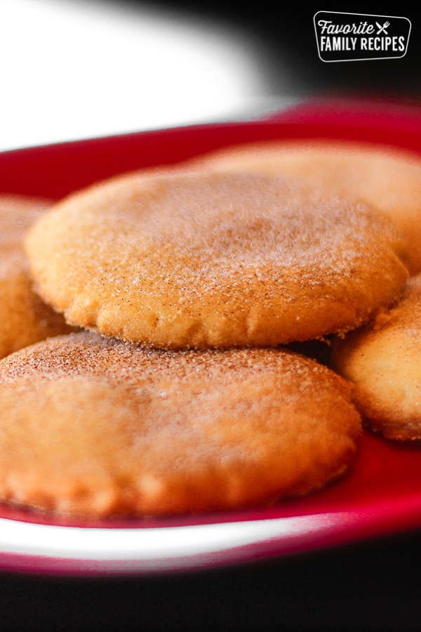 Snickerdoodle Cookies on a Plate