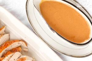 Turkey Gravy in a Serving Dish