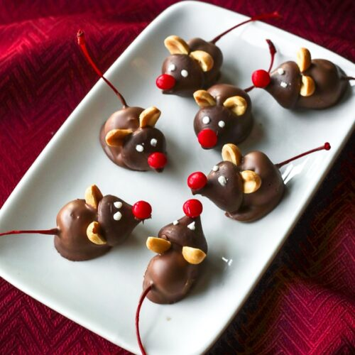 Chocolate Cherry Mice Candies | Favorite Family Recipes