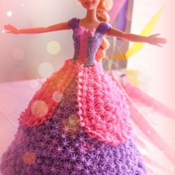 Pink and purple Princess Birthday Cake
