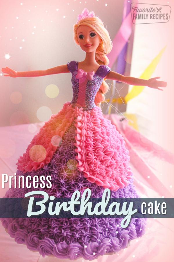 Homemade Rapunzel Doll Birthday cake