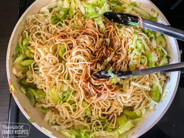 Noodles and sauce for Panda Express chow mein