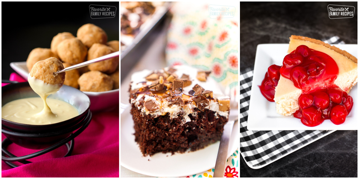 Collage of Desserts for Super Bowl Parties