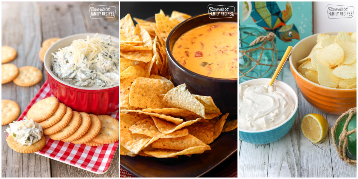 Collage of 3 Super Bowl Dips