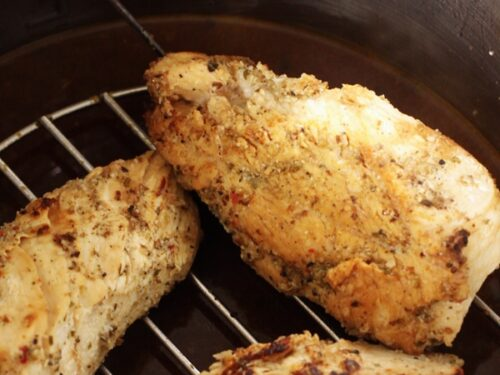 Cooked chicken in an Instant Pot