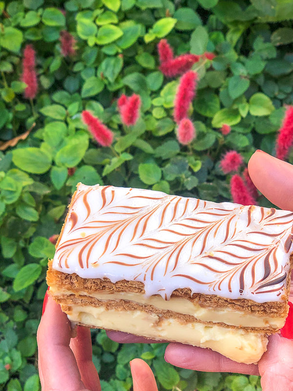 Napoleon French Pastry from the Les Halles Boulangerie-Patisserie at Epcot in Walt Disney World
