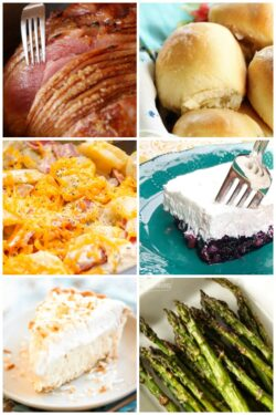 Easter Dinner Food Collage