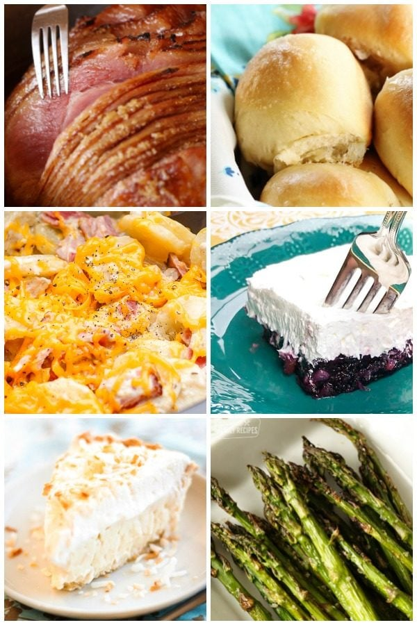 Easter Dinner Food Collage