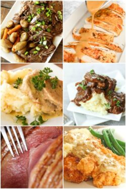 Collage of Sunday Dinner Ideas