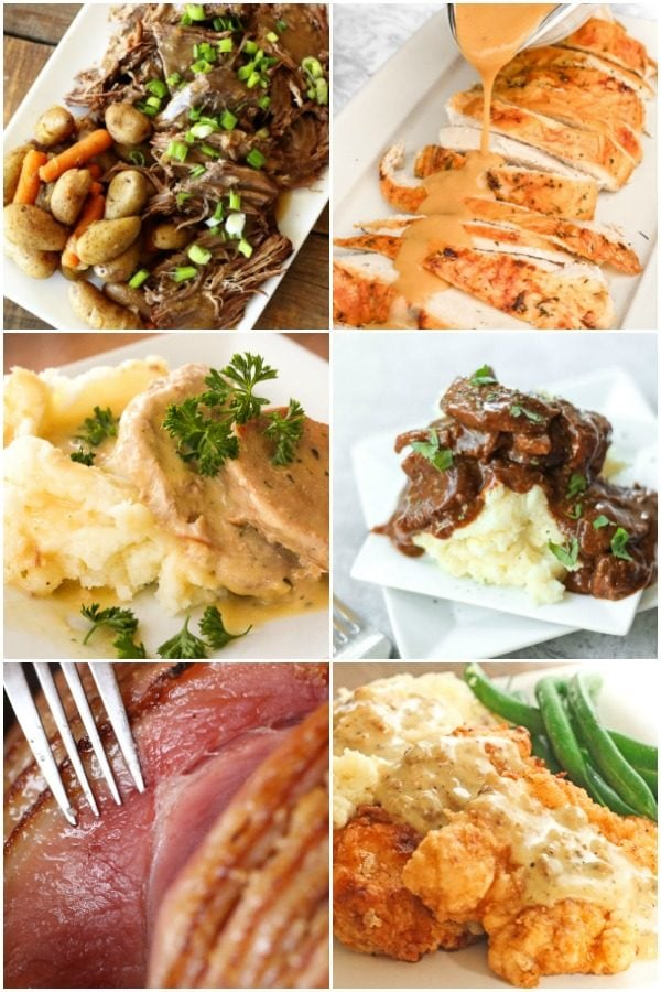 Collage of Sunday Dinner Ideas
