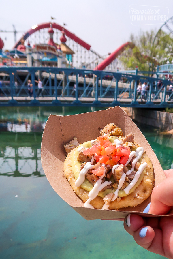 A pork taco at the Disney California Adventure Food and Wine Festival