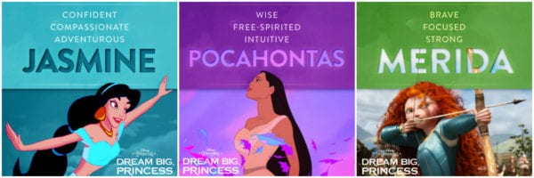 The qualities of Disney Princesses Jasmine, Pocahontas, and Merida