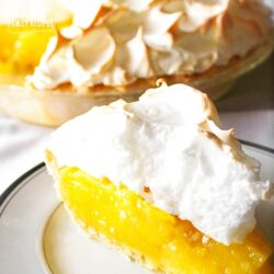Slice of Lemon Meringue Pie on a plate