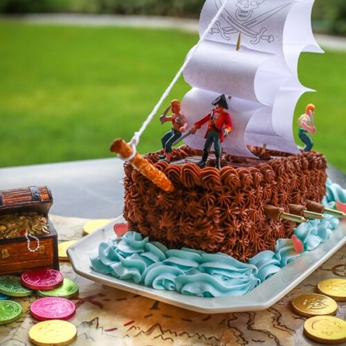 Marvelous Pirate Ship Cake Great For Birthdays Favorite Family Recipes Birthday Cards Printable Riciscafe Filternl