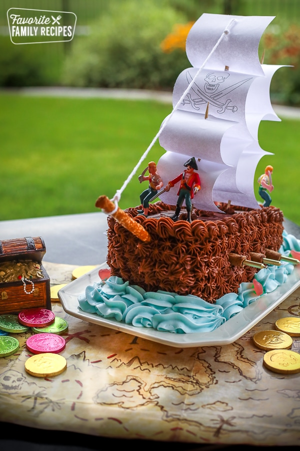 Outstanding Pirate Ship Cake Great For Birthdays Favorite Family Recipes Funny Birthday Cards Online Alyptdamsfinfo