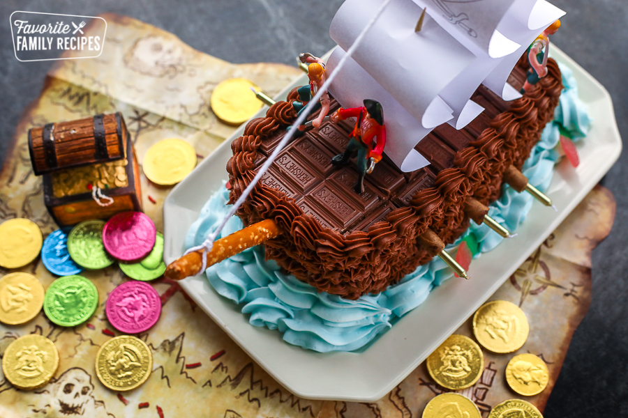 Brilliant Pirate Ship Cake Great For Birthdays Favorite Family Recipes Funny Birthday Cards Online Alyptdamsfinfo
