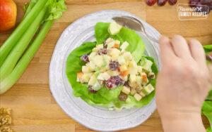 Waldorf Salad, apples, walnuts, grapes & mayo.