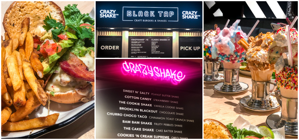Black Tap Anaheim Menu and Food Items
