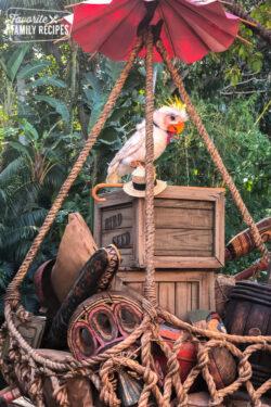 Rosita the Talking Bird in the new Tropical Hideaway at Disneyland