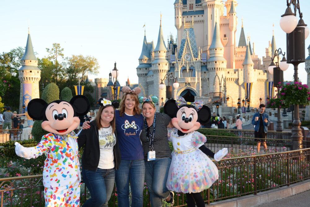 Emily Echo and Emily with Mickey and Minnie in Magic Kingdom Walt Disney World
