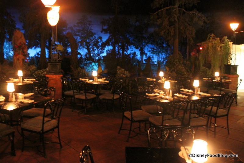 An image of the inside of the Blue Bayou Restaurant