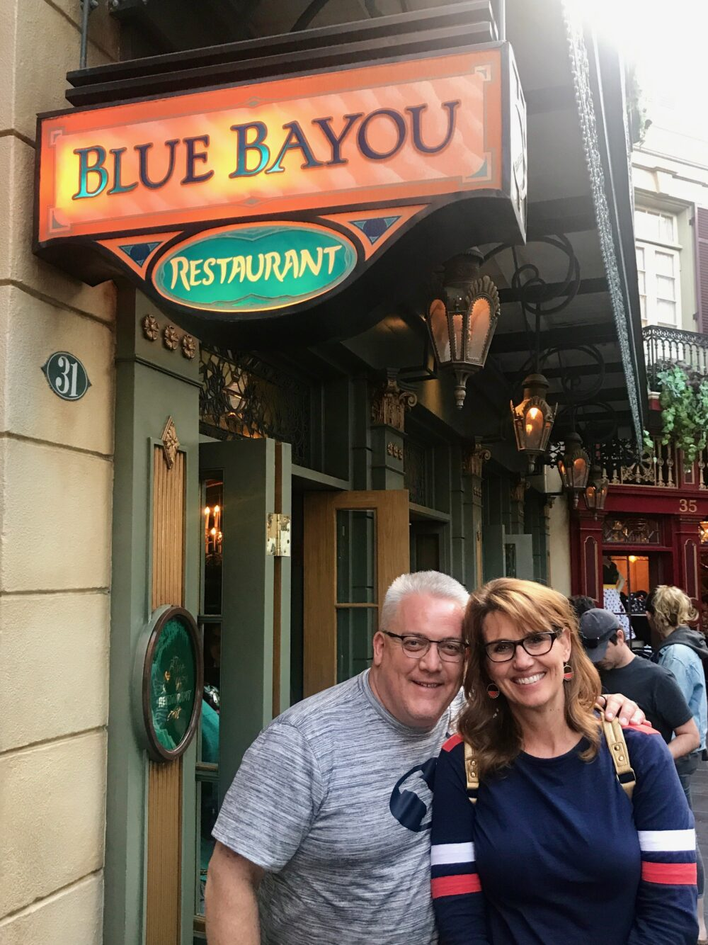 Todd and Echo at the Blue Bayou Restaurant in Disneyland