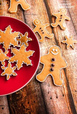 decorated gingerbread cookies on a plate