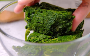 Frozen Spinach that has been thawed and drained